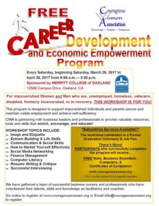 CWA Career Development flyer
